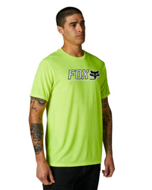 Fox Cntro Tech Tee - Flo Yellow - 26971-130