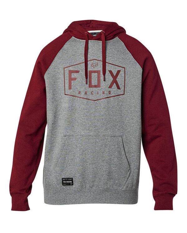 Fox Crest Pullover Fleece Hoody - Heather Graphite - 25953-185