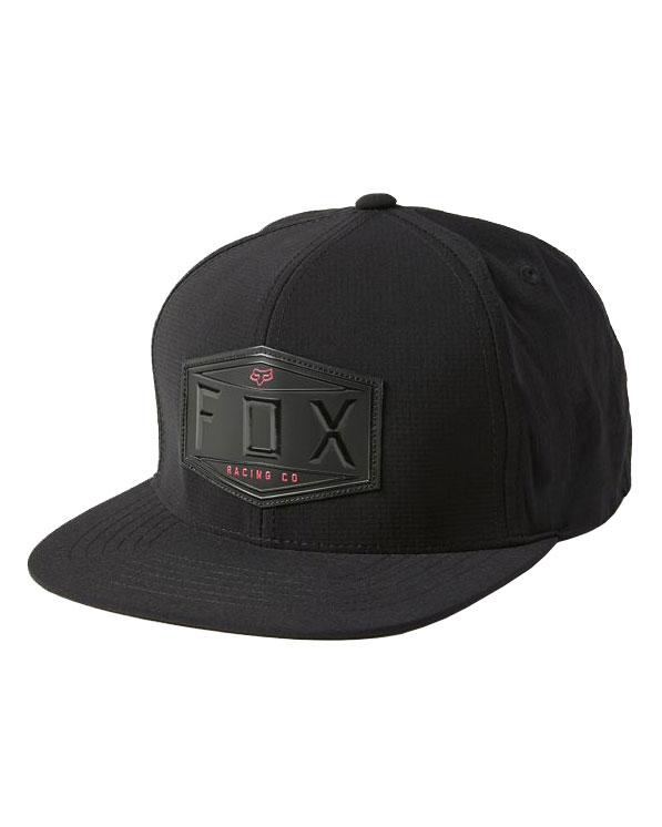 Fox Emblem Snapback Cap - Black - 27085-001