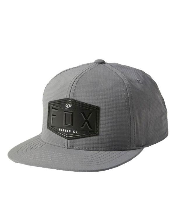 Fox Emblem Snapback Cap - Pewter - 27085-052