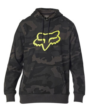 Fox Legacy Foxhead Camo - Pullover Fleece Hoody - Black Camo - 24761-247