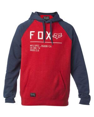 Fox Non Stop Raglan Pullover Fleece Hoody - Chili - 26482-555