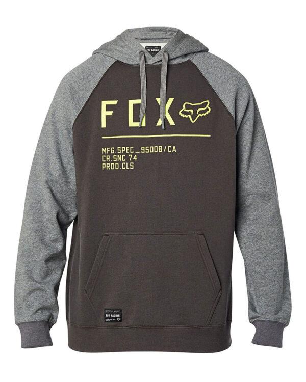 Fox Non Stop Raglan Pullover Fleece Hoody - Smoke - 26482-296