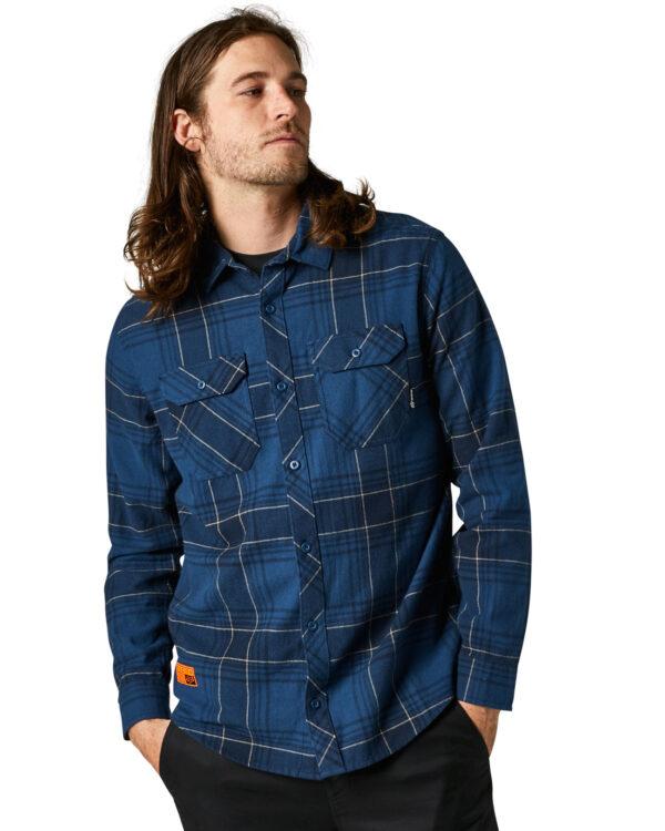 Fox Traildust 2.0 Flannel Shirt - Dark Indigo - 28857-203