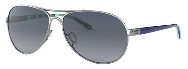 Oakley Feedback - Polished Chrome - Grey Gradient Polarized - OO4079-07 - 700285863276
