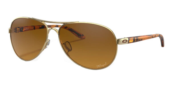 Oakley Feedback - Polished Gold - Brown Gradient Polarized - OO4079-11 - 700285942414