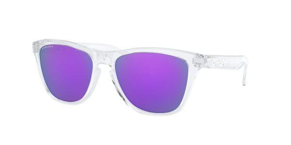 Oakley Frogskins - Polished Clear - Prizm Violet - OO9013-H755 - 888392454706