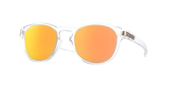 Oakley Latch - Matte Clear - Prizm Rose Gold Polarized - OO9265-5253 - 888392424600