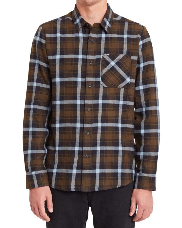 Volcom Caden Plaid Long Sleeve Shirt - Wren - A0532101-WRE