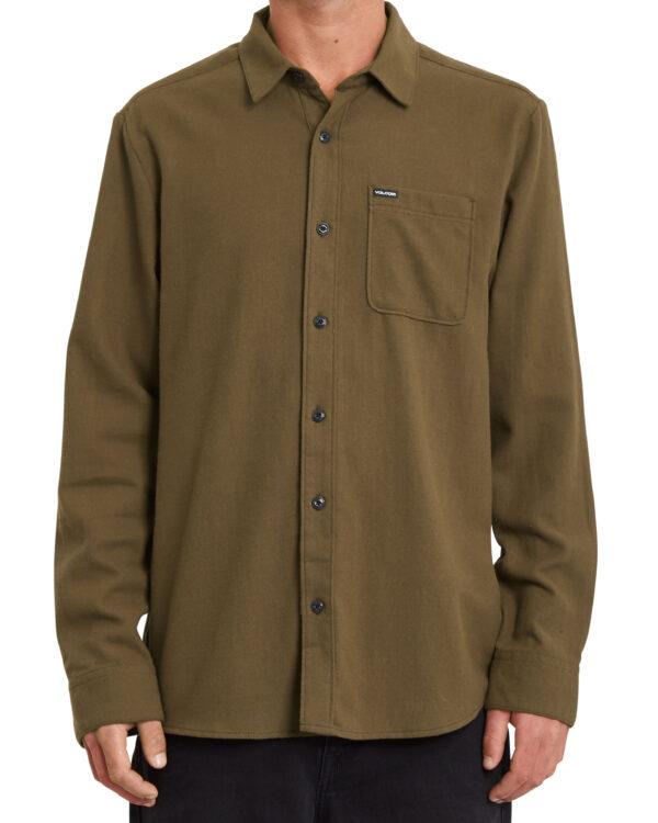 Volcom Caden Solid - LS Shirt - A0532004-WRE - Wren