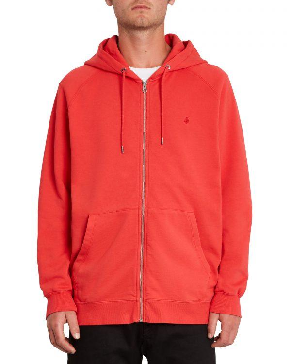 Volcom Freeleven Zip Fleece Hoody - Carmine Red - A4812102-CMR